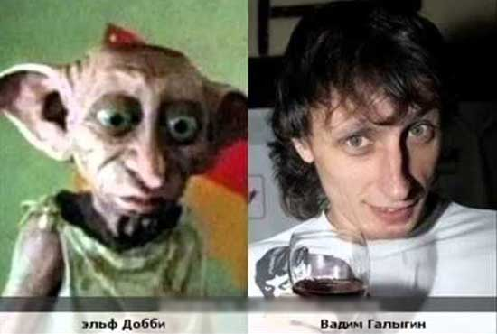 Смешные сходства знаменитостей - фото