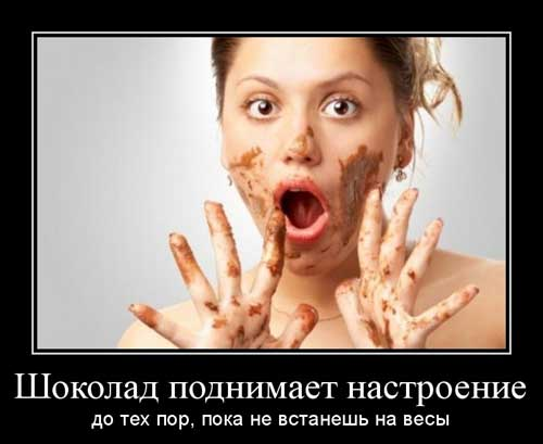 Демотиваторы про шоколад