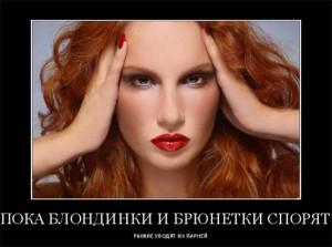 Прикольные статусы про рыжих женщин