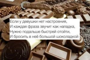 Смешные стихи про шоколад
